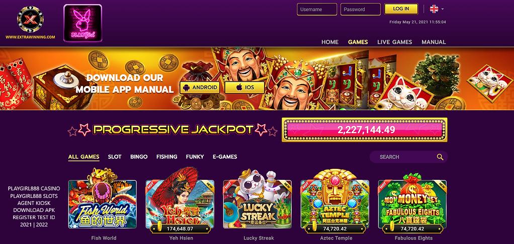 playgirl888 casino slots agent kiosk download apk register test id 2021 2022