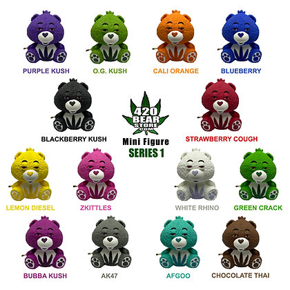 "420 Bear 2.5"" Mini Series 1 Complete Set"