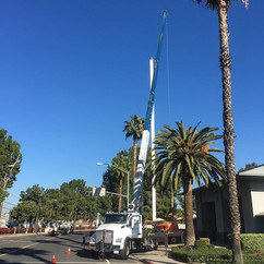 flag poles at Riverside Fire Stations. #