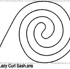 Lazy Curl Sash