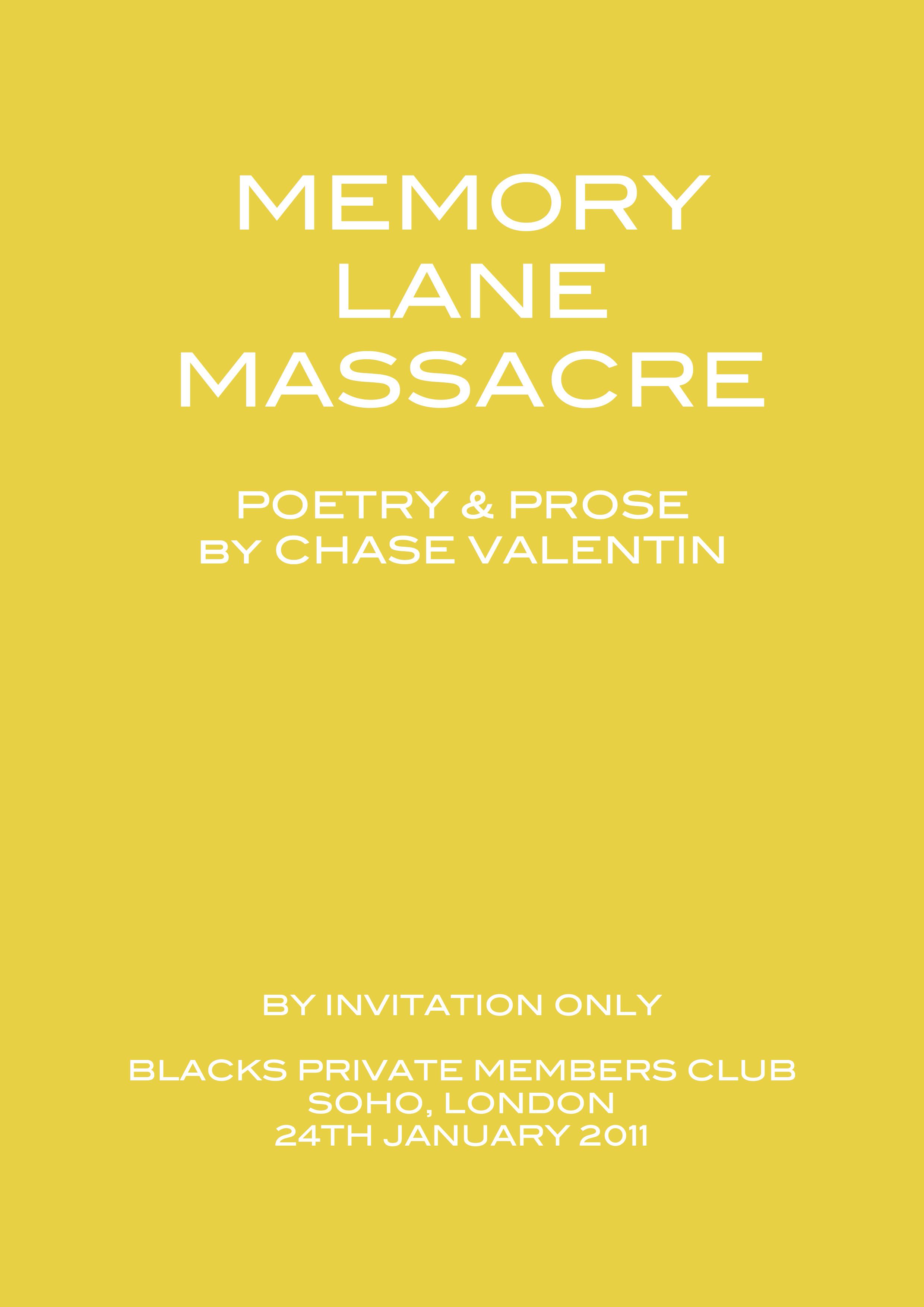 Memory Lane Massacre 2011