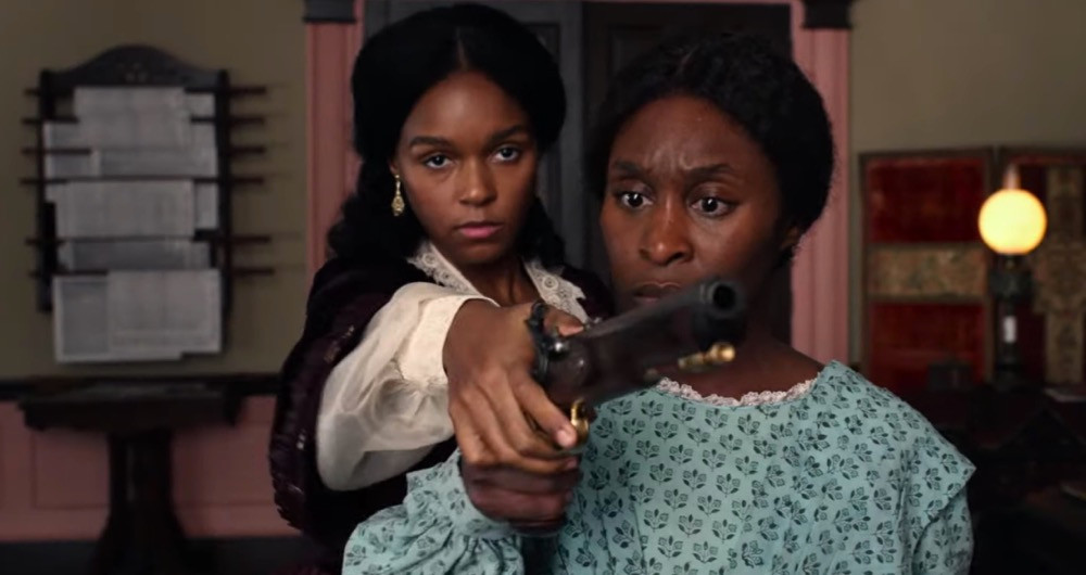 Janelle Monae and Cynthia Erivo in Harriet film