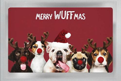 "Teepostkarte ""Merry Wuffmas"""