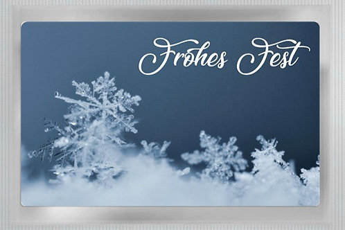 "Teepostkarte ""Frohes Fest"""