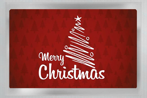"Teepostkarte ""Merry Christmas"""