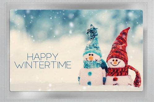 "Teepostkarte ""Happy Wintertime"""