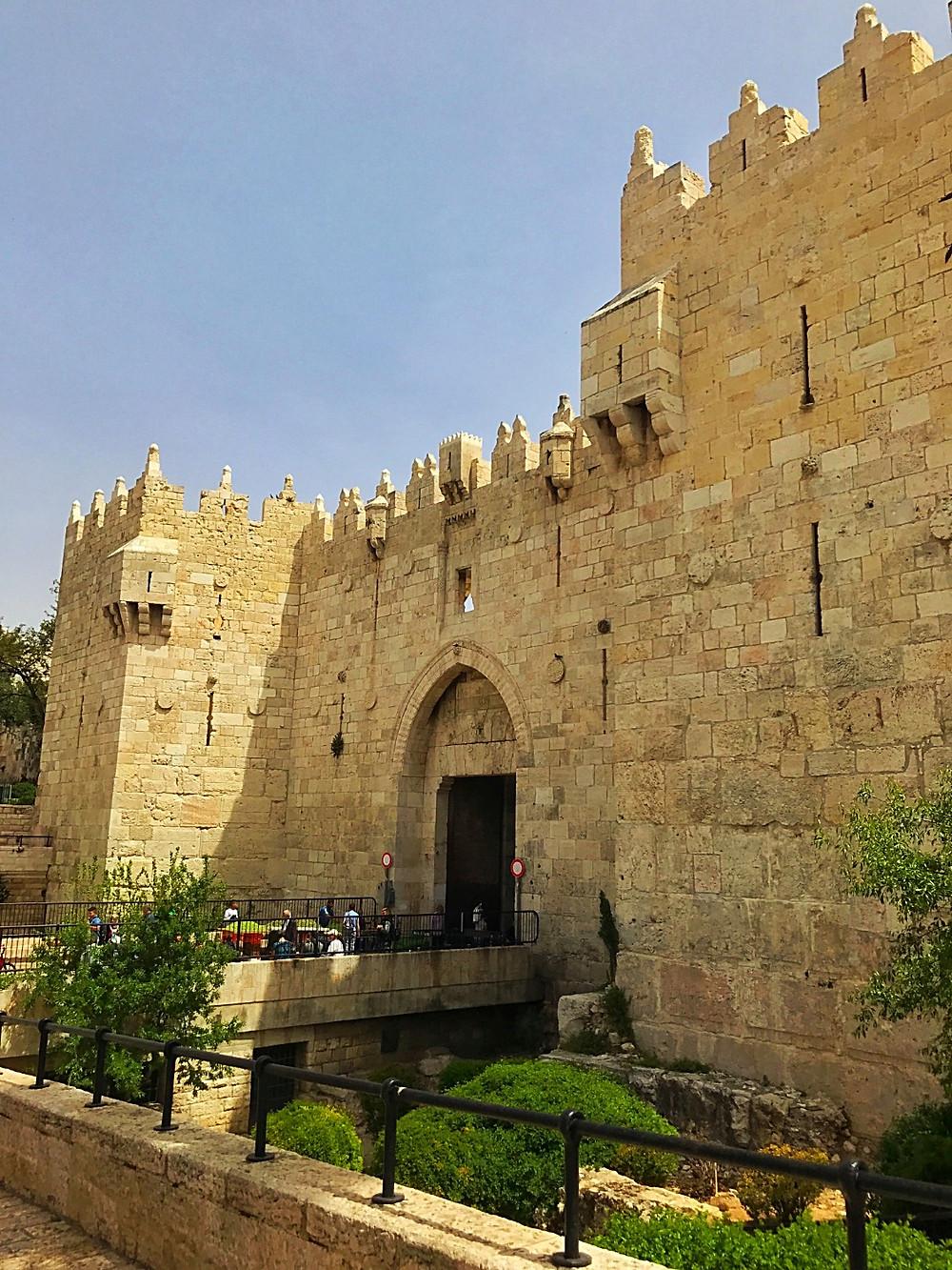 Jerusalém e seus portões na muralha