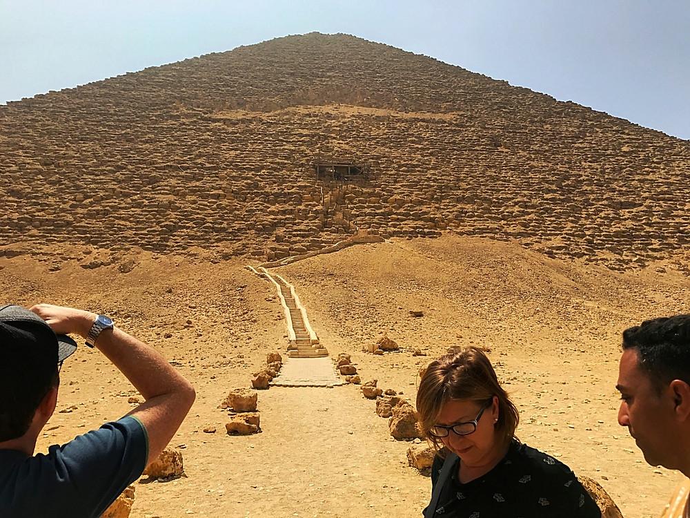 Pirâmide Vermelha em Daschur no Egito