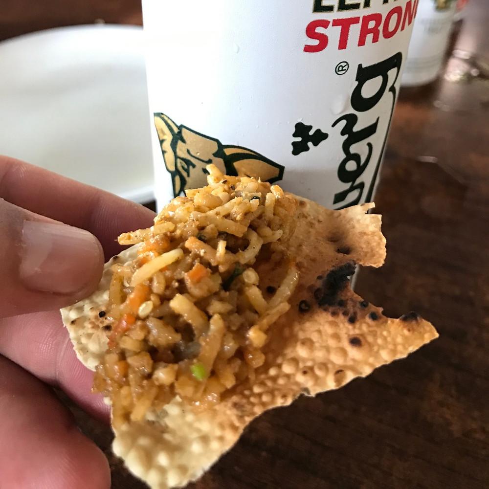 Comendo nas ruas da Índia