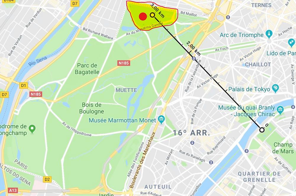 Parque de diversão em Paris