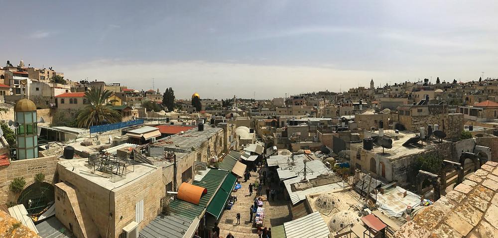 Jerusalém vista de cima dos muros