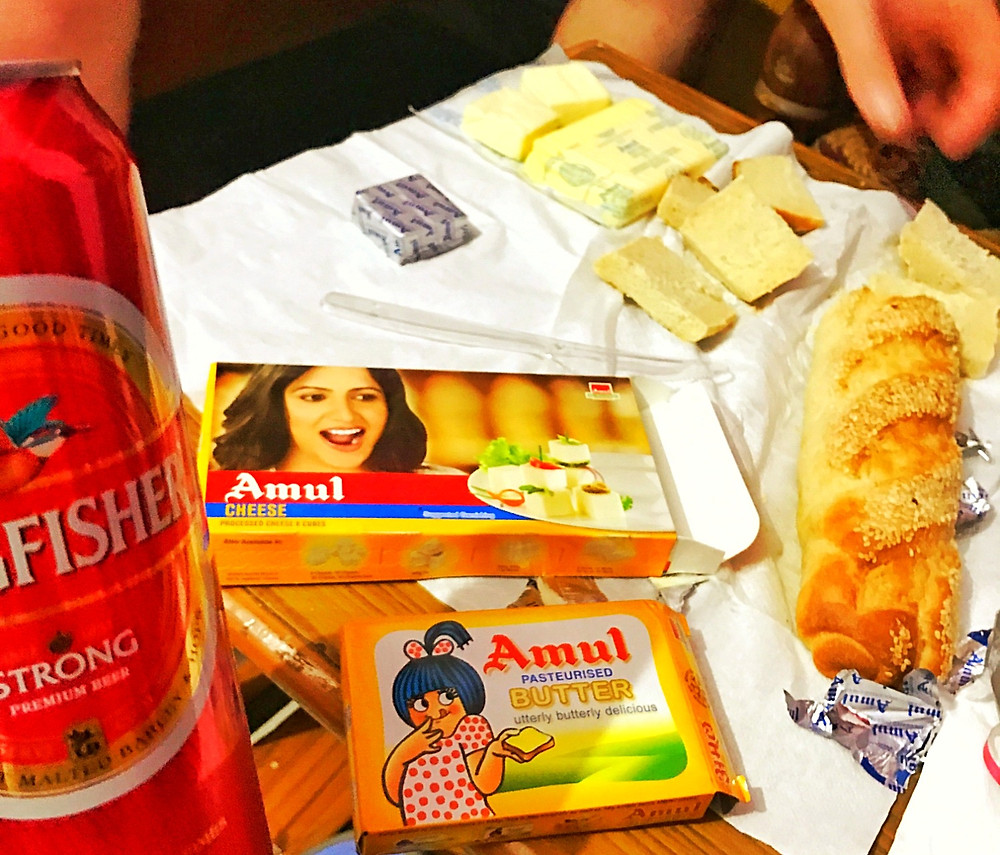 Pão e manteiga Amul na Índia