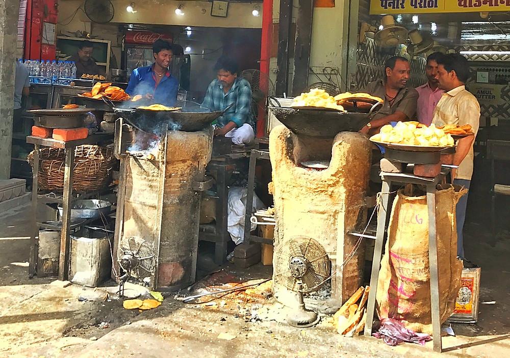 Comida de rua na Índia