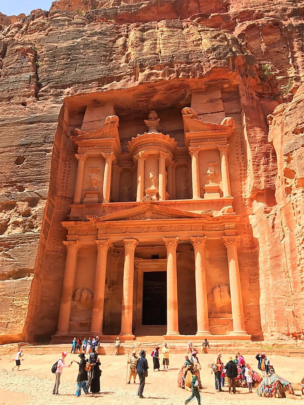 Prédio do Tesouro de Petra na Jordânia
