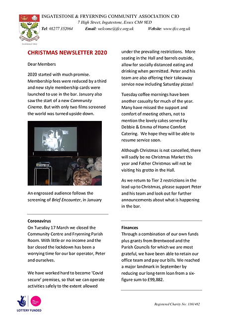 IFCA CIO Christmas Newsletter 2020 final