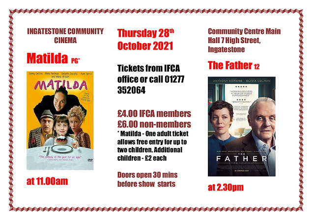 Cinema flyer double bill Matilda and The Father.png