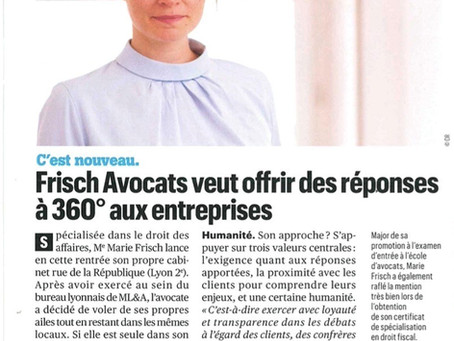 Frisch Avocats dans La Tribune de Lyon !