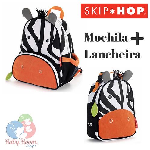 Kit Mochila + Lancheira Skip Hop Zebra