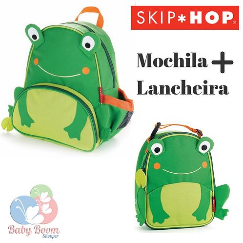 Kit Mochila + Lancheira Skip Hop Sapo
