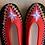Thumbnail: Danuta black/red slippers size 39