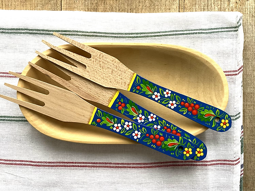 Tolka wooden painted fork