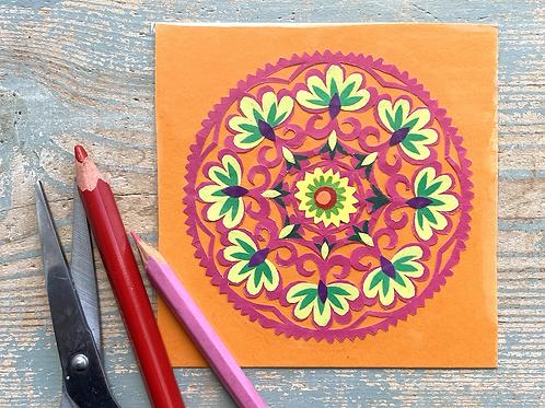 Mini paper cut pattern No.3