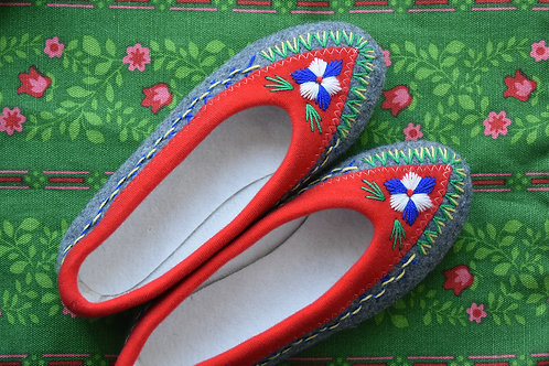 Tonia embroidered slippers