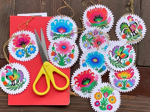 Paper cut decorations