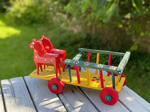 Folk open horse and cart