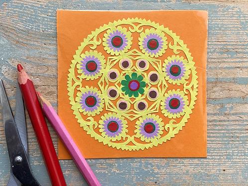 Mini paper cut pattern No.4