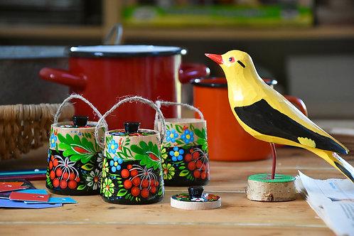Niko little wooden pots