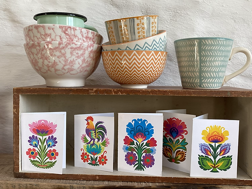 Folk art tiny cards