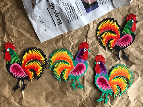 Paper cockerel decoration No.2