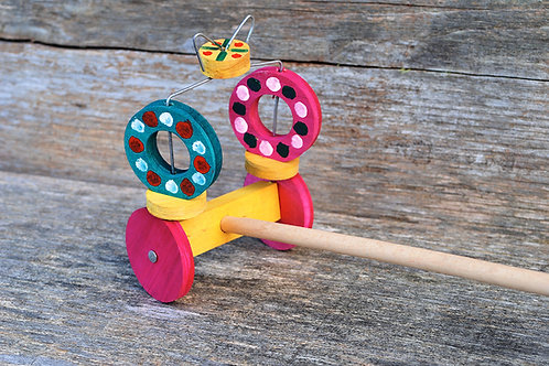 Folk art push along toy No.2
