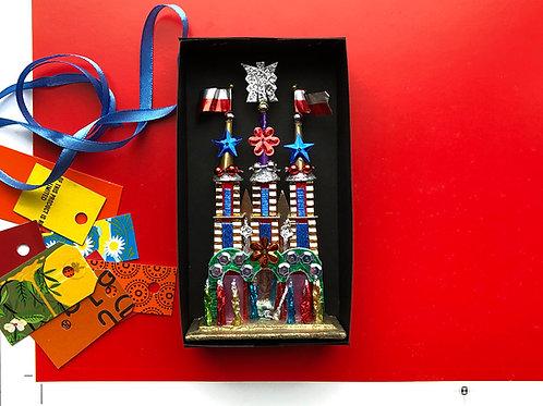 Coloured foil nativity scene S