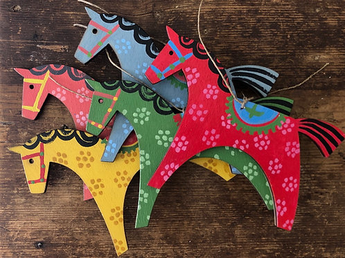 Wooden horse decorations