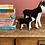 Thumbnail: Black wooden Husky pup