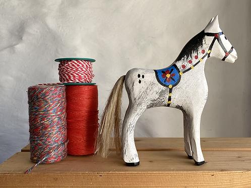 White wooden horse