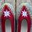 Thumbnail: Danuta dk red slippers size 38