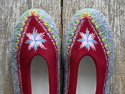 Danuta dk red slippers size 38