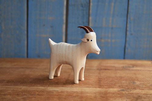 Handmade wooden goat