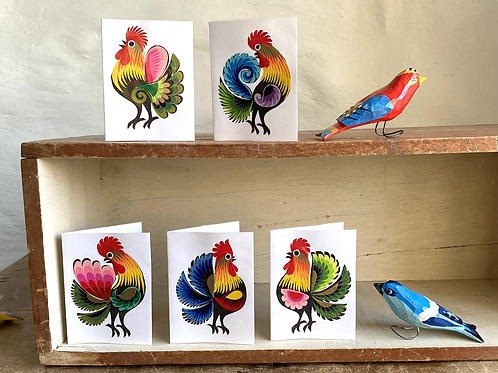Folk art tiny cards