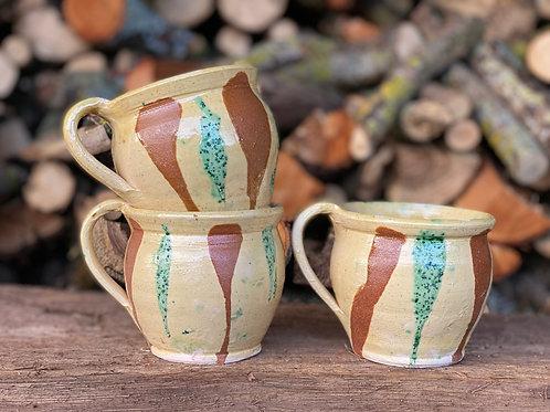 Rustic pottery mug