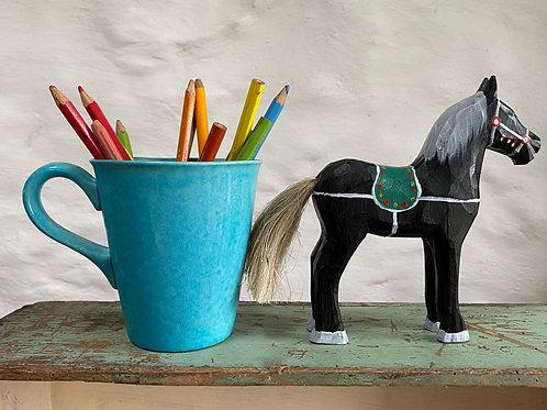 Black wooden horse