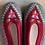 Thumbnail: Danuta grey/dk red slippers size 39