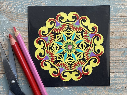 Mini paper cut pattern No.1