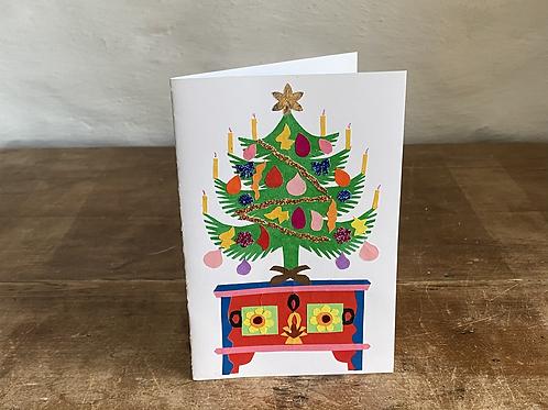 Folk art Christmas card No.1