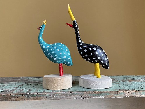 Wooden Guineafowl M