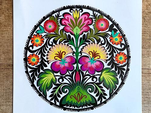 Flower pattern paper cut