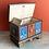 Thumbnail: Brown patterned folk art wooden box